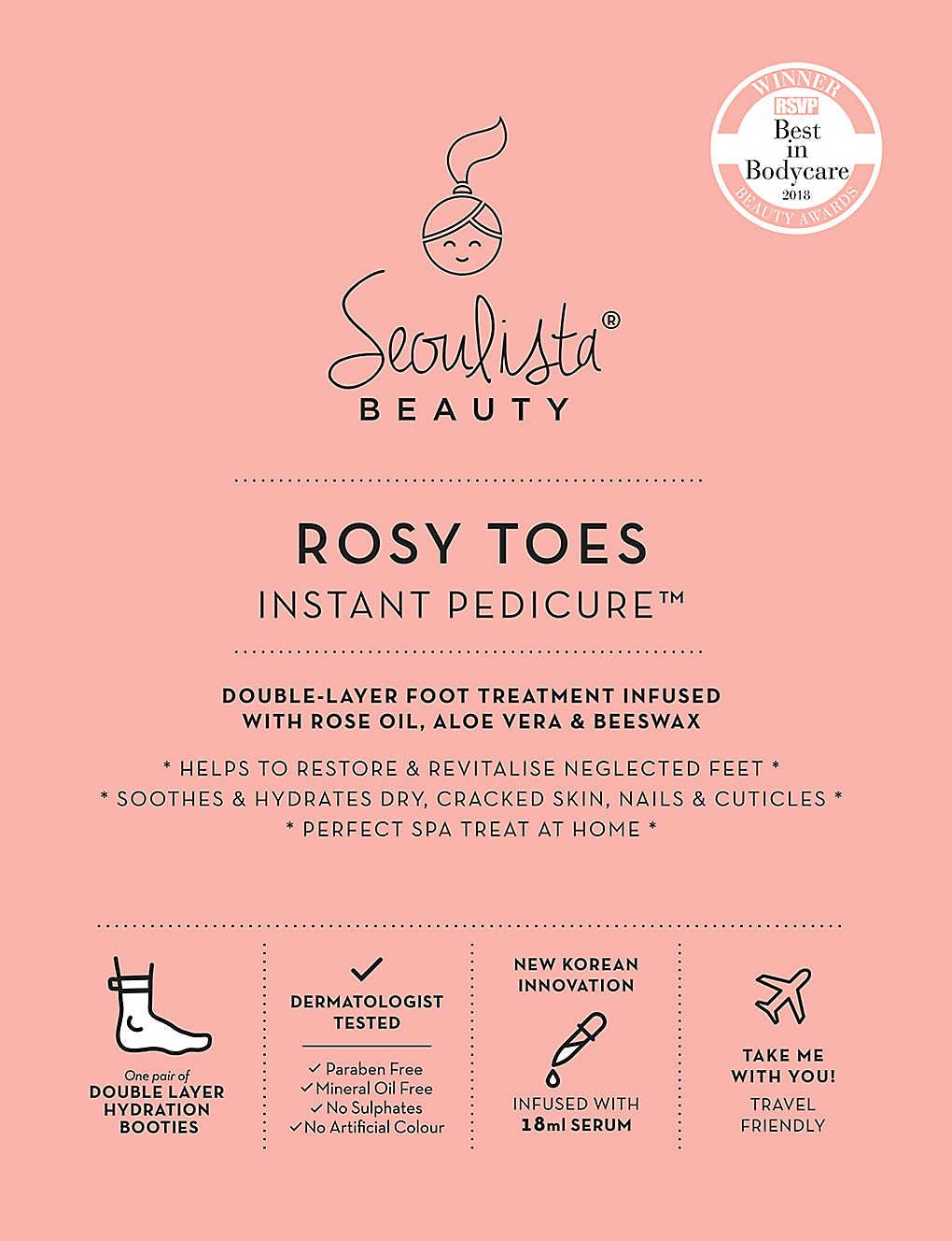 Rosy Toes Instant Pedicure