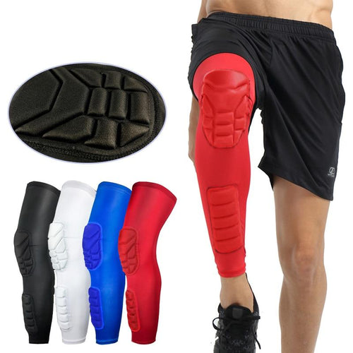 Breathable Honeycomb Long Basketball Knee Pads
