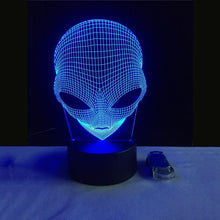 Load image into Gallery viewer, Alien 3D LED Light