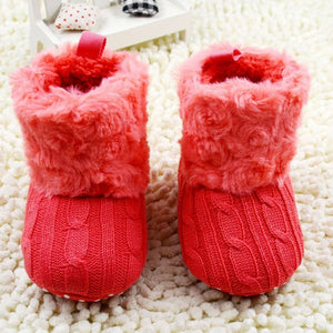 Knitted Fur Toddlers Boots
