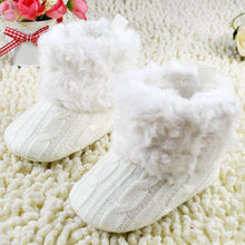 Load image into Gallery viewer, Knitted Fur Toddlers Boots