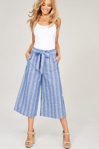 Penelope Striped Pants - Blue