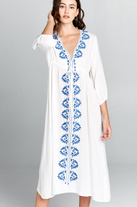 Zoe Embroidered Dress