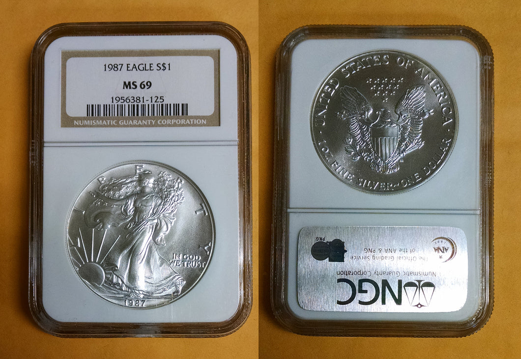 US Silver Eagles MS69 Graded OUR CHOICE