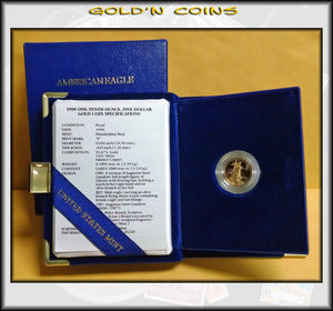 1990 Tenth Ounce Proof Gold American Eagle Original Government Packaging