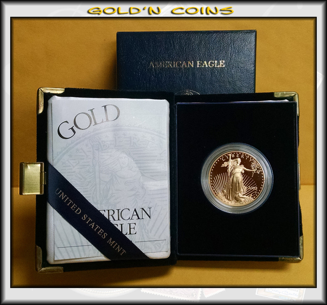 2002 One Ounce Proof Gold American Eagle Original Government Packaging