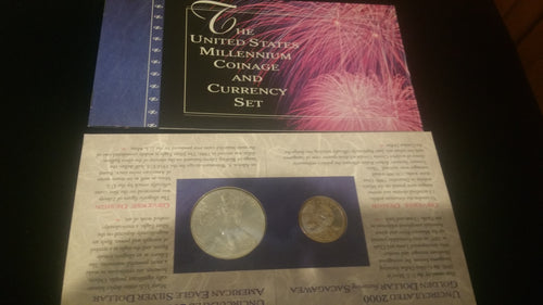 2000 United States Millennium Coinage and Currency Set