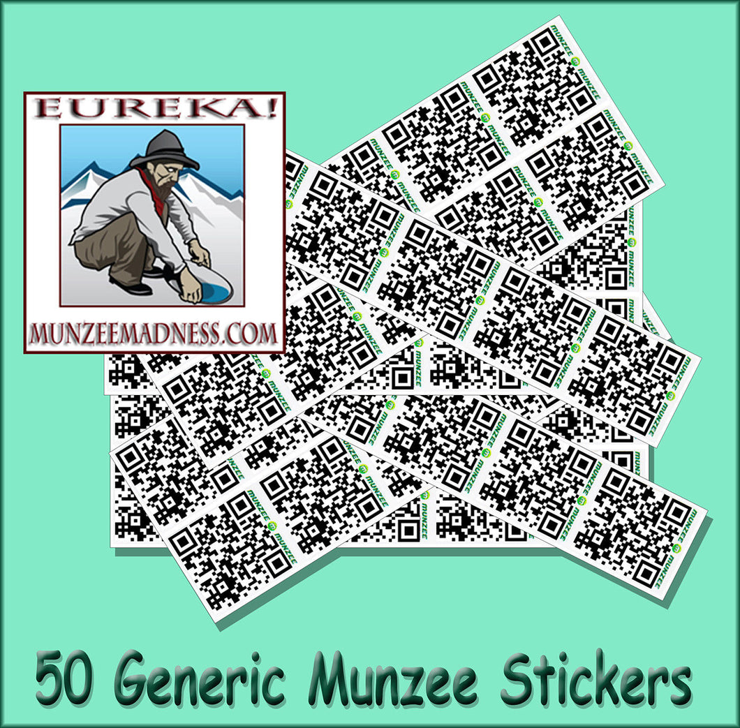 CLEAR Generic Munzee Stickers - 7/8