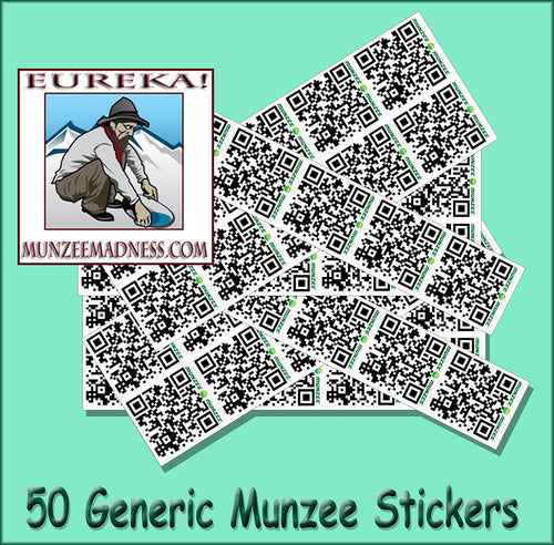 Generic White Munzee Stickers - 7/8