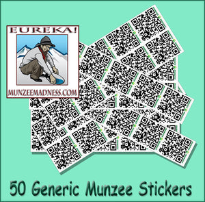 "Generic White Munzee Stickers - 7/8"" Size - 50 Pack"