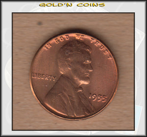 1955 Lincoln Cent Poor Man's Double Die