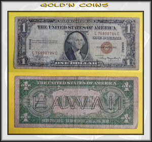 1935-A Hawaii Overprint Emergency WWII $1 Silver Certificate