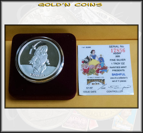 One Ounce Silver Disney Collector Coin - Bashful