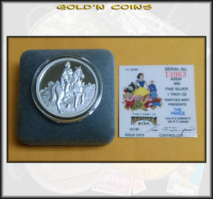 One Ounce Silver Disney Collector Coin - The Prince
