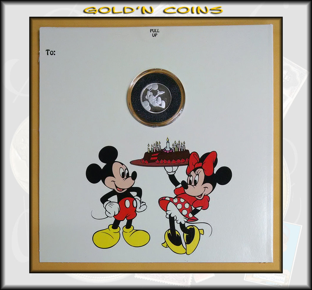 Tenth Ounce Silver Disney Collector Coin Happy Birthday!