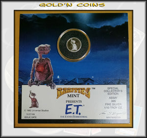 E.T. The Extra-Terrestrial 1/10 ounce SILVER Collector Coin & Folder