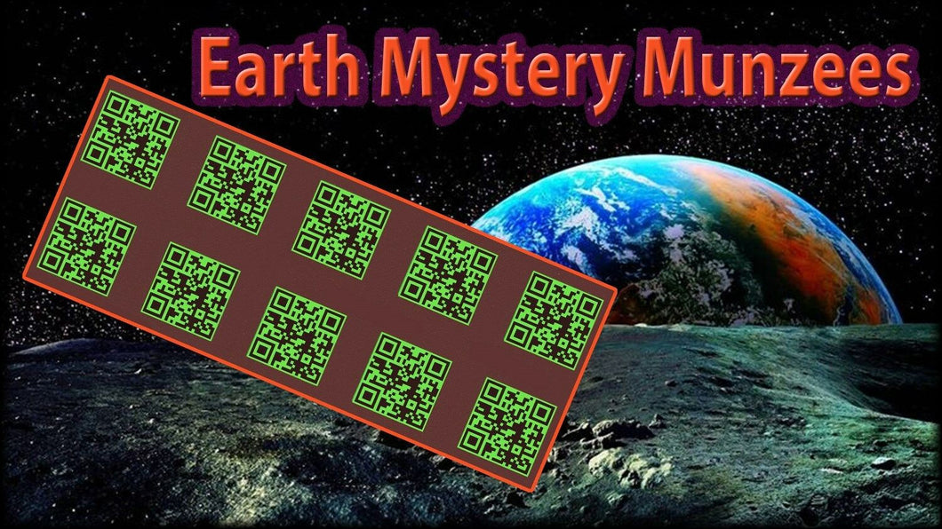 Earth Mystery Munzee Stickers - 10 Pack