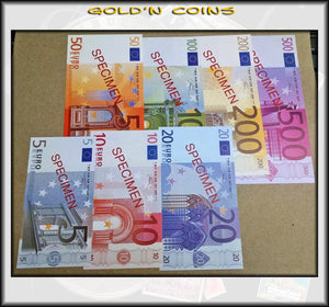 7-pc Euro Specimen Note Set