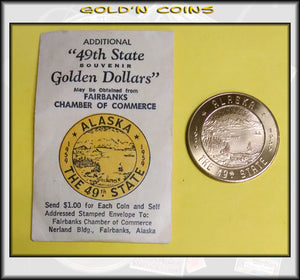 "Alaska ""49th State Golden Dollar"" So-Called Dollar"
