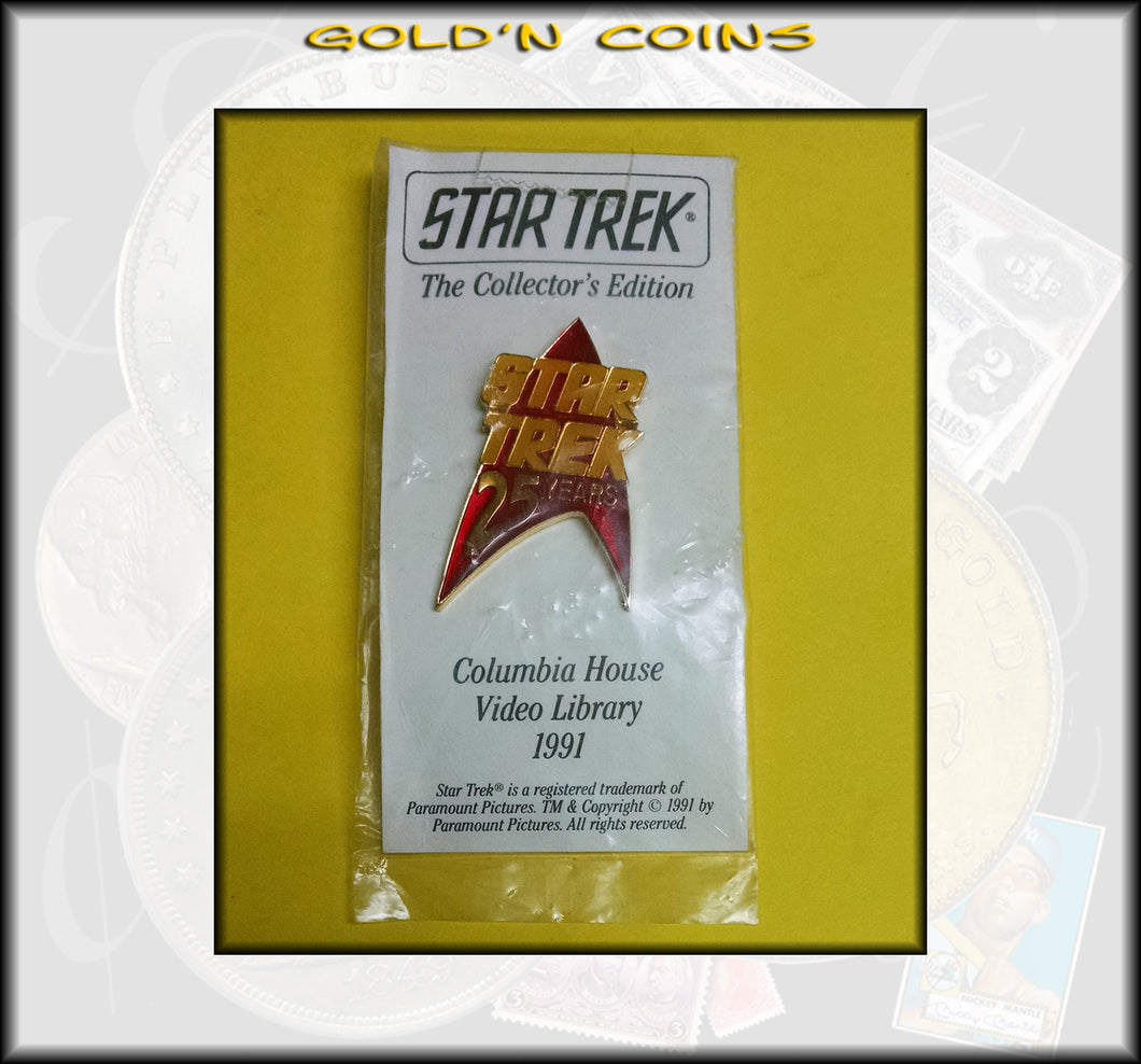 Star Trek 25 Years Lapel Pin