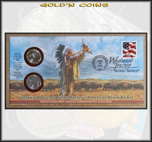 2005 Westward Journey Nickel Series First Day Cover, American Bison Nickel