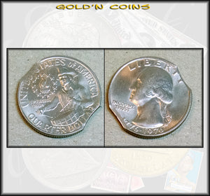 1976 Uncirculated Bicentennial Quarter Double Clip Error