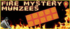 Fire Mystery Munzee Stickers - 10 Pack