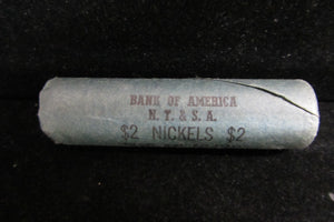 1961-D JEFFERSON NICKEL BANK WRAPPED ROLL