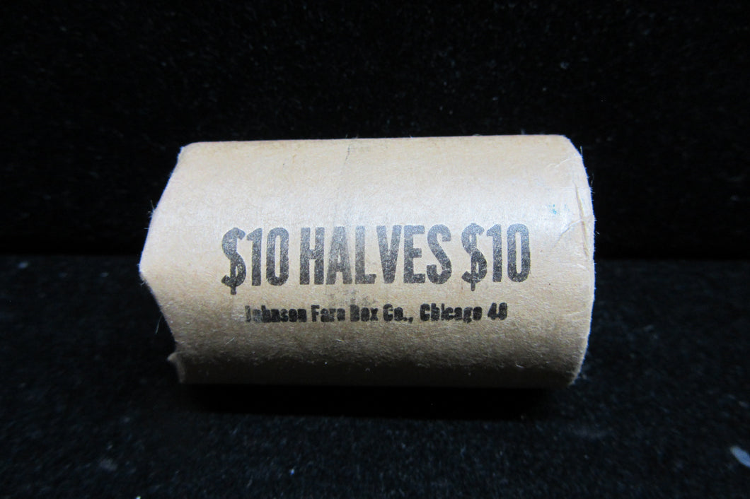 1974-D KENNEDY HALF DOLLARS - BANK WRAPPED ROLL OF TWENTY UNCIRCULATED