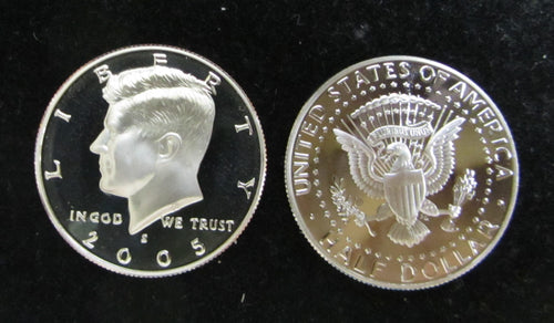 2005-S PROOF KENNEDY HALF DOLLAR ROLL OF TWENTY