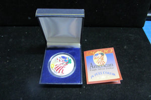 2000 1 OUNCE SILVER EAGLE - COLORIZED OBVERSE WITH CERTIFICATE