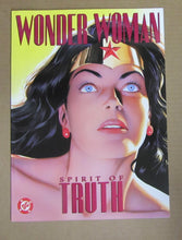 "WONDER WOMAN ""SPIRIT OF TRUTH"" COMIC MAGAZINE BY ROSS & DINI- GREAT CONDITION"