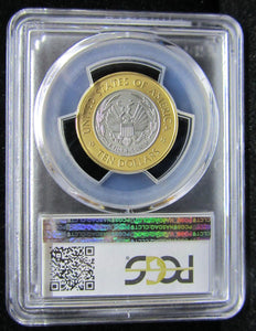 2000-W LIBRARY US VAULT COLLECTION $10 - GOLD, RHODIUM - GRADED PCGS MS69