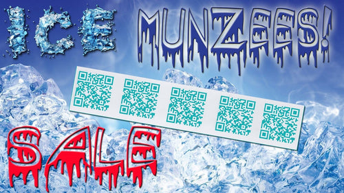 Ice Munzee Stickers - 5-Pack