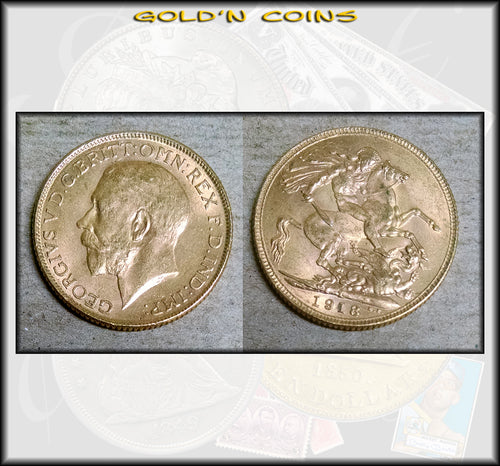1918-I GOLD Sovereign - India