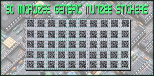 MicroZee Generic Munzee Stickers - Sheet of 50