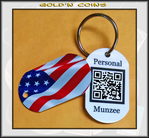 Old Glory Personal Munzee Dog Tag