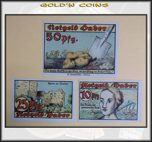 Daber 3-pc Set German Notgeld