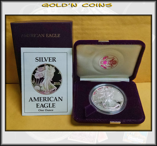 1988 Proof Silver Eagle in Original Government Packaging