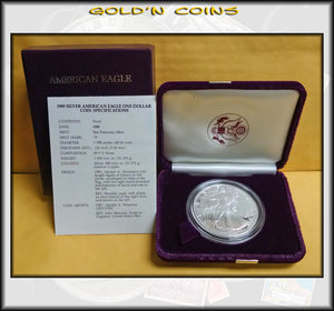 1989 Proof Silver Eagle in Original Government Packaging