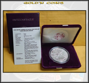 1990 Proof Silver Eagle in Original Government Packaging