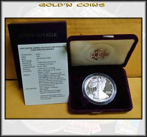 1991 Proof Silver Eagle in Original Government Packaging