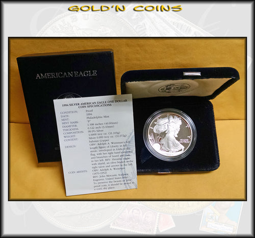 1994 Proof Silver Eagle in Original Government Packaging