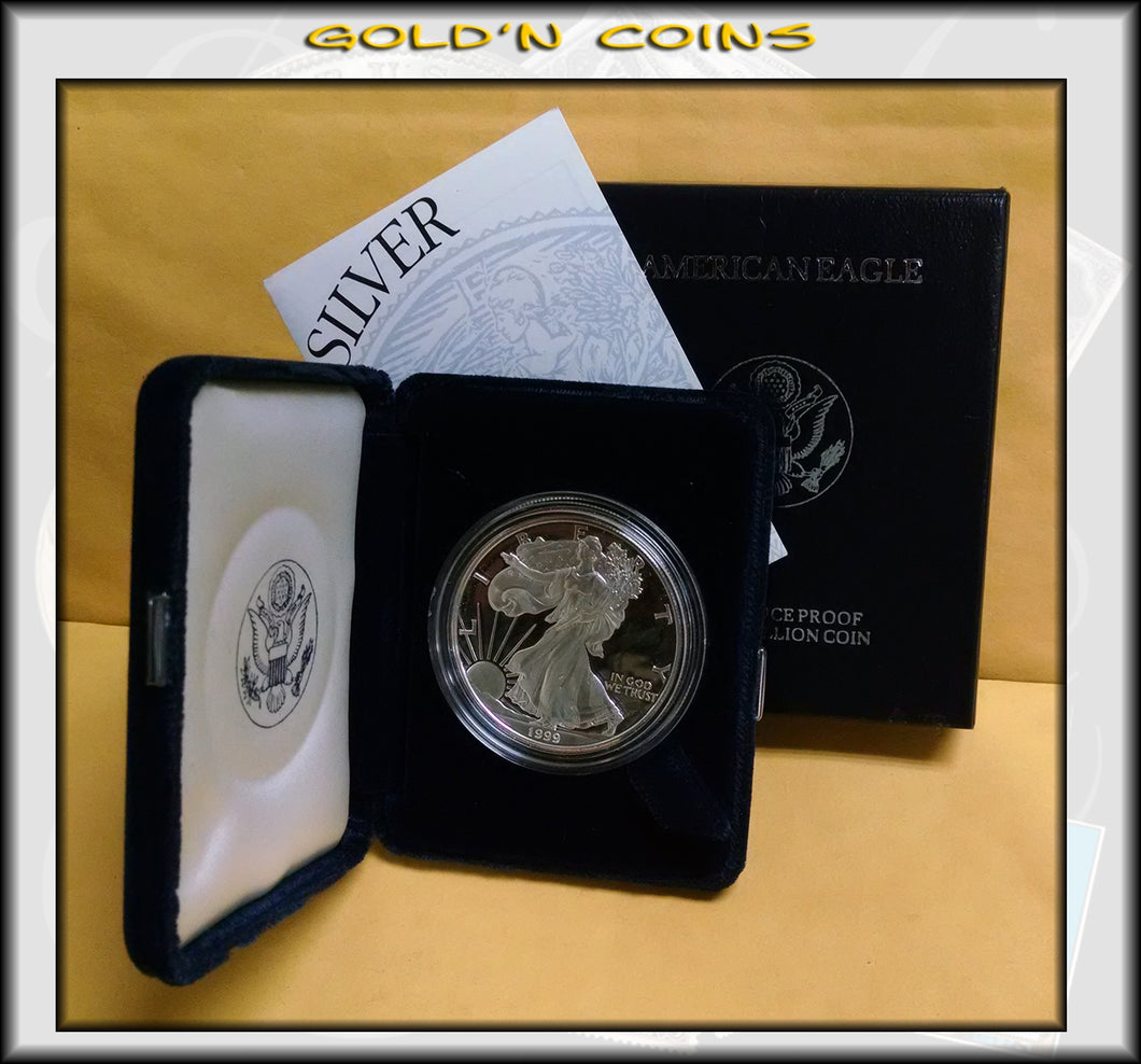 1999 Proof Silver Eagle in Original Government Packaging