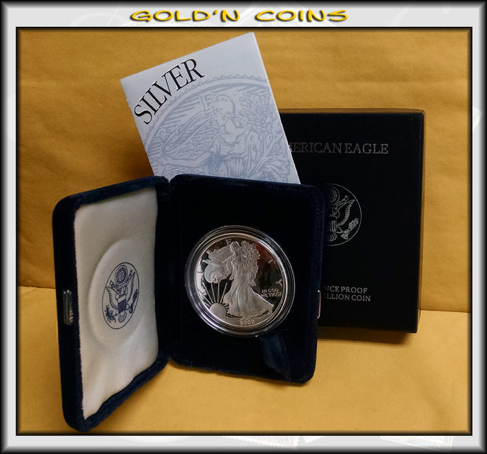 2000 Proof Silver Eagle in Original Government Packaging