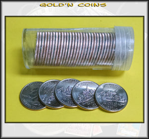 1999-D New Jersey State Quarter Roll (40 coins) - Uncirculated