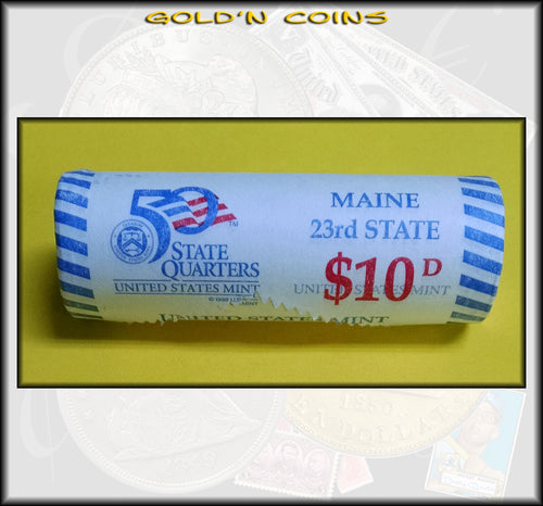 2003-D Maine State Quarter Roll (40 coins) - Uncirculated
