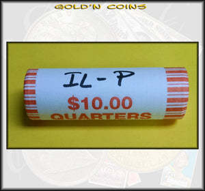 2003-P Illinois State Quarter Roll (40 coins) - Uncirculated