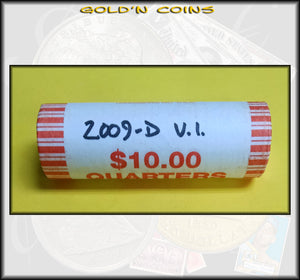 2009-D Virgin Islands Territorial Quarter Roll (40 coins) - Uncirculated