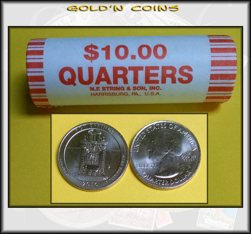 2010-D Hot Springs National Park Uncirculated Quarter Roll (40 Coins)